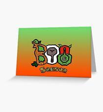Boo Seasons Greeting Card