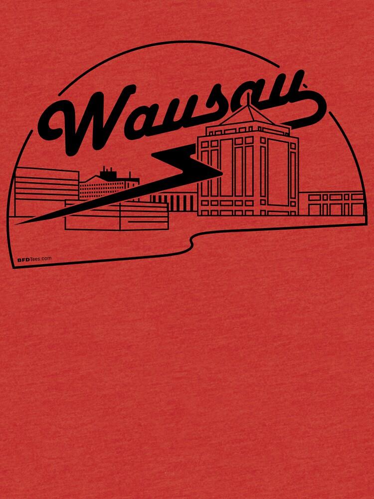 Wausau Skyline (Black) by bigfatdesigns