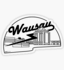 Wausau Skyline (Black) Transparent Sticker