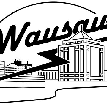 Wausau Skyline (Black) by bigfatdesigns
