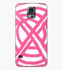 X Marks the Spot girly pink Case/Skin for Samsung Galaxy