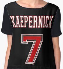 Kaepernick 7 RED Women's Chiffon Top