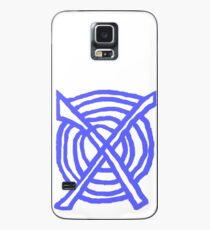 X Marks the Spot periwinkle blue Case/Skin for Samsung Galaxy