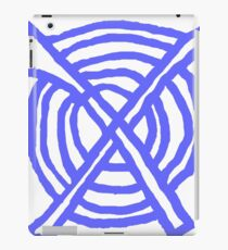 X Marks the Spot periwinkle blue iPad Case/Skin