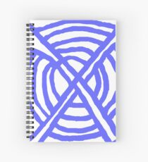 X Marks the Spot periwinkle blue Spiral Notebook