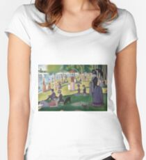 A Sunday Afternoon on the Island of La Grande Jatte by Georges Seurat Women's Fitted Scoop T-Shirt
