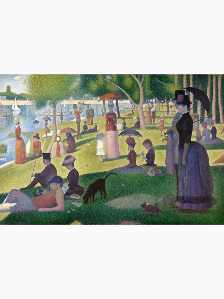 A Sunday Afternoon on the Island of La Grande Jatte by Georges Seurat by classicartcache