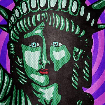 Lady Liberty Pop Art - Fuck Trump by JessieDuke
