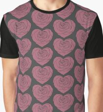 Rose Heart Graphic T-Shirt