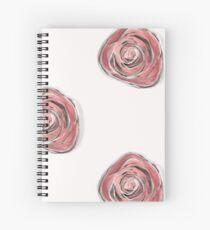 Rosie Posie on white Spiral Notebook