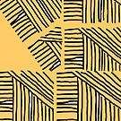 Line pattern black and yellow by HEVIFineart