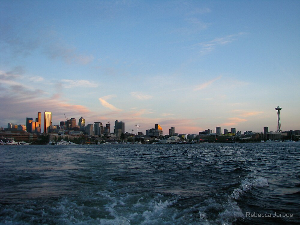 Seattle from Lake Union by Rebecca Jarboe