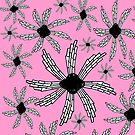 Pink spiral wind catcher pattern by HEVIFineart