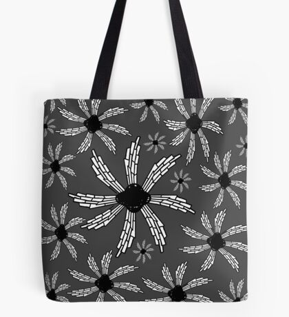 Charcoal gray spiral wind catcher pattern Tote Bag