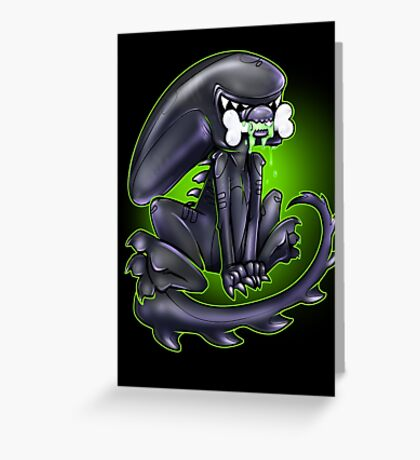 Alien Xeno Greeting Card
