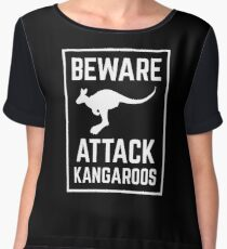 Beware Attack Kangaroo Women's Chiffon Top