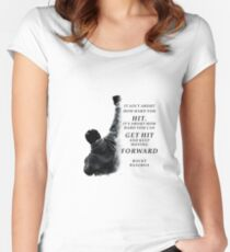 Rocky Balboa quotes to his son  Women's Fitted Scoop T-Shirt