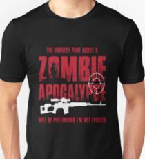 Zombie Apocalypse Being Excited For Zombie Hunters T-Shirt