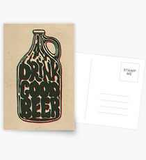 Drink Good Beer Postcards