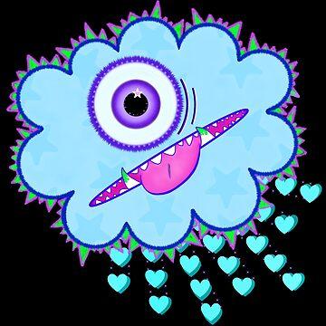 PeeWee the Misunderstood Cloud Monster by Scaredycat85
