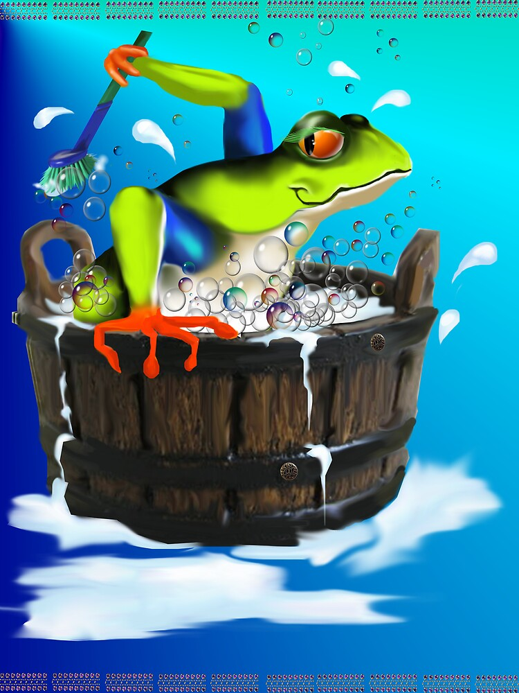 The Washing Frog by Lotacats