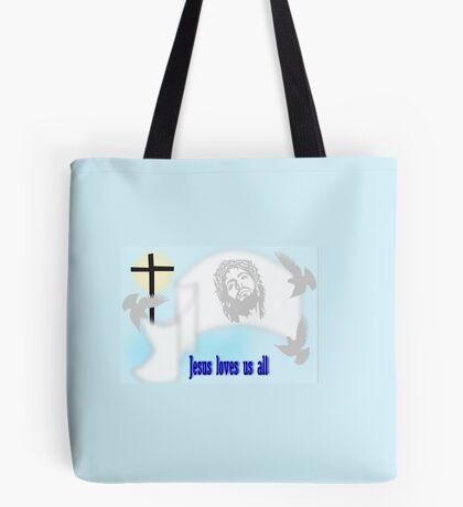 Jesus Loves us all (652 Views) Tote Bag