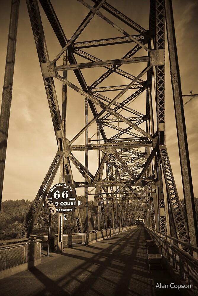 Chain of Rocks Bridge. (Alan Copson © 2007) by Alan Copson