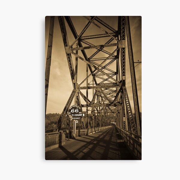 Chain of Rocks Bridge. (Alan Copson © 2007) Canvas Print