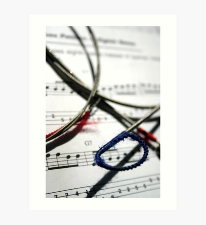 String and Note Art Print