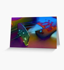 Abstract Violin Greeting Card