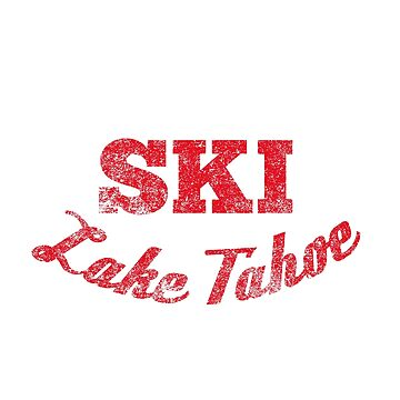 Lake Tahoe Waterskiing Tee Shirt  by HoodieWoodie