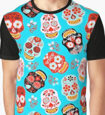 Happy Sugar Skulls for Day of the Dead Graphic T-Shirt