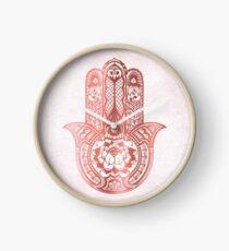 Rose Gold Hamsa Clock