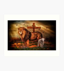 The Lion And The Lamb Art Print