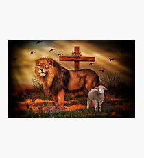 Der Löwe und das Lamm Fotodruck