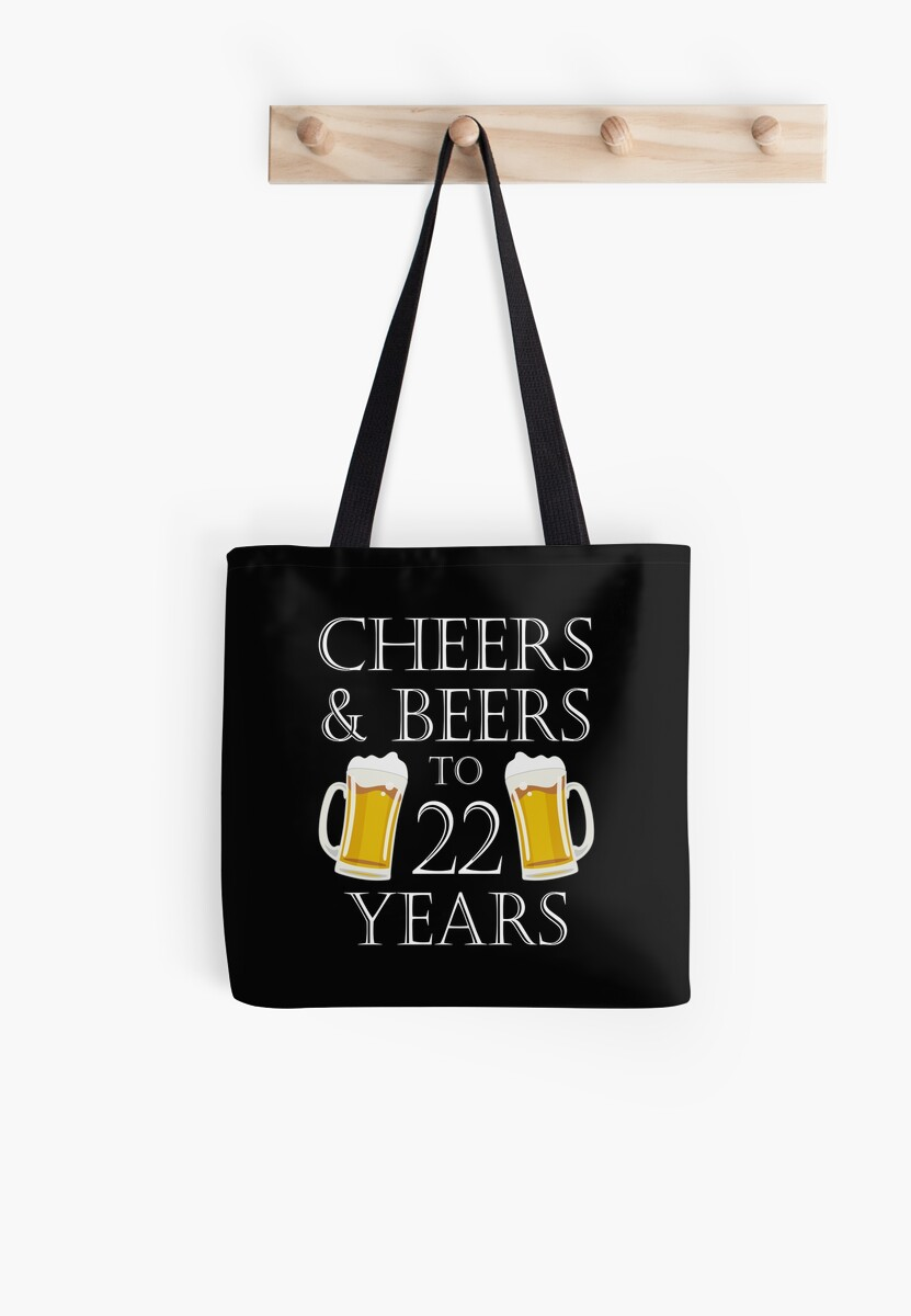 Cheers And Beers To 22 Years 22nd Birthday Gift By Blazesavings