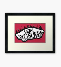 Vans Off The Wall Thrasher Flame Framed Print