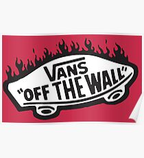 Vans Off The Wall Thrasher Flame Poster
