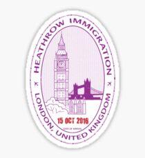 Passport Stamp - London Sticker