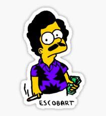 Escobart Bart Simpson (Purple) Sticker