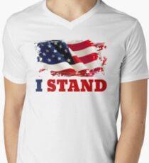 I Stand for the Flag | American Flag Men's V-Neck T-Shirt