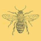 Bee - created with plants, flowers bees pollinate by Marlo Saucedo
