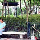 Street Sweeper - Hong Kong Style by Margaret Stevens