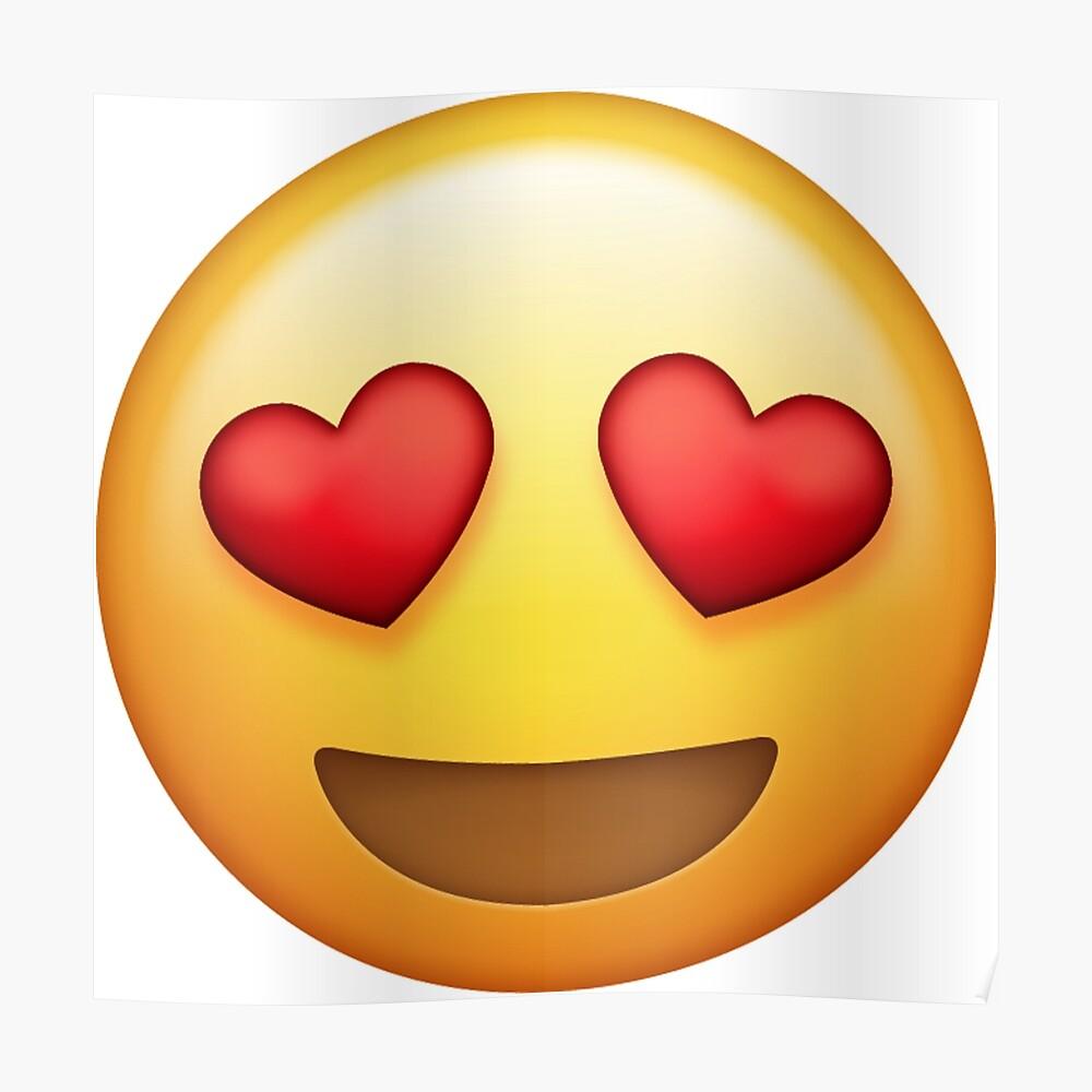 Herz augen emoji poster von cm21968 redbubble
