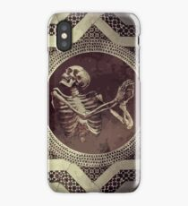 Hannibal: Dancing Skull + Skeleton Mosaic  iPhone Case