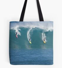 Waimea Bay Three Surfers Tote Bag