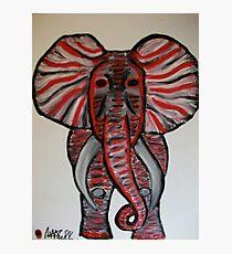 Alabama Bama Elephant Finger Painted MKinnamanArt Photographic Print