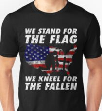 WE STAND FOR THE FLAG WE KNEEL FOR THE FALLEN VETERANS DAY GIFT T SHIRTS T-Shirt