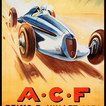 1938 ACF Grand Prix Reims France Automobile Race by retrographics