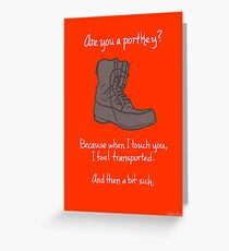 Portkey Greeting Card